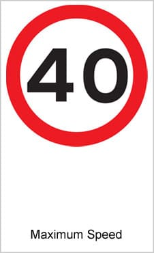 UK Road Sign Maximum Speed