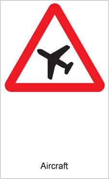 UK Road Signs Aircraft