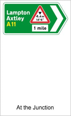 UK Road Signs At The Junction