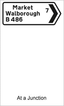 UK Road Signs At a Junction