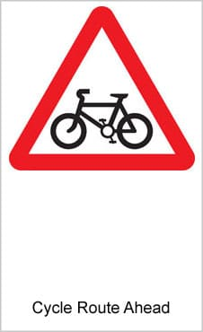 UK Road Signs Cycle Route Ahead