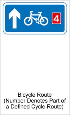 UK Road Signs Cycle Route
