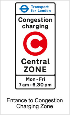UK Road Signs Entance to Congestion Charging Zone