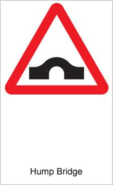 UK Road Signs Hump Bridge
