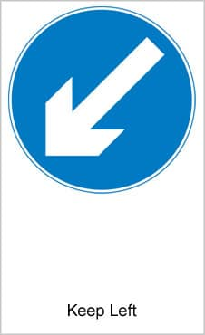 UK Road Signs Keep Left