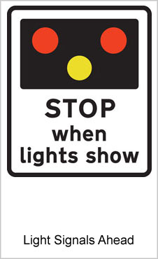 UK Road Signs Light Signals Ahead
