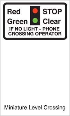 UK Road Signs Miniature Level Crossing
