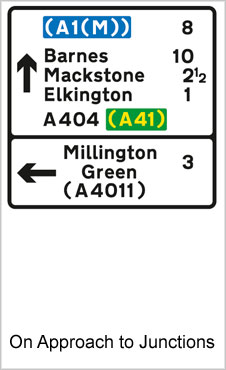 UK Road Signs On Approaches To Junctions b