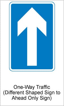 UK Road Signs One Way