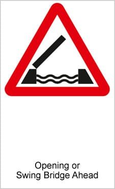 UK Road Signs Opening or Swing Bridge Ahead