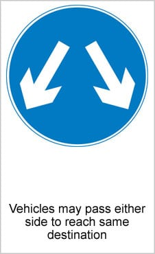 UK Road Signs Pass Either Side