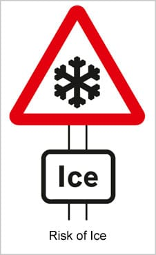 UK Road Signs Risk of Ice