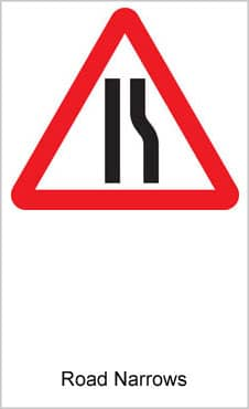 UK Road Signs Road Narrows