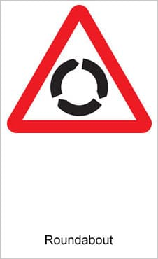 UK Road Signs Roundabout