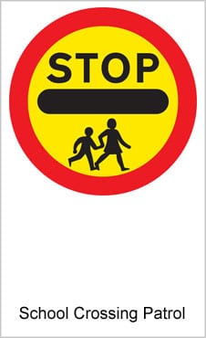 UK Road Sign For School Crossing Patrol