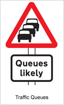 UK Road Signs Traffic Queues