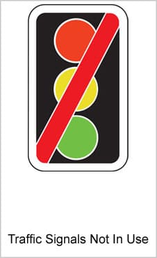 UK Road Signs Traffic Signals Not In Use