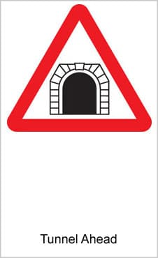 UK Road Signs Tunnel Ahead