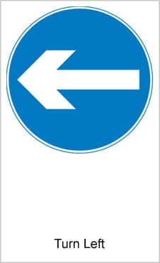 UK Road Signs Turn Left