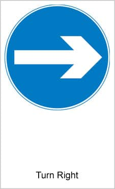 UK Road Signs Turn Right