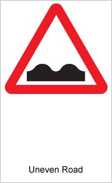 UK Road Signs Uneven Road