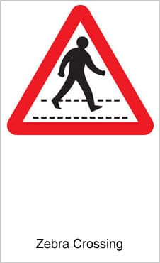 UK Road Signs Zebra Crossing