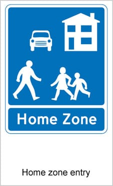 UK Road Signs Home Zone Entry