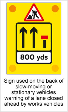 UK Road Signs Sign Used on the back of slow moving or stationery vehicles