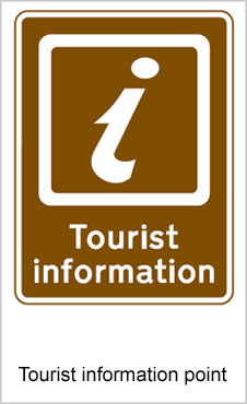 UK Road Signs Tourist Information Point