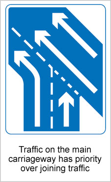 UK Road Signs Traffic on Cariageway Priority